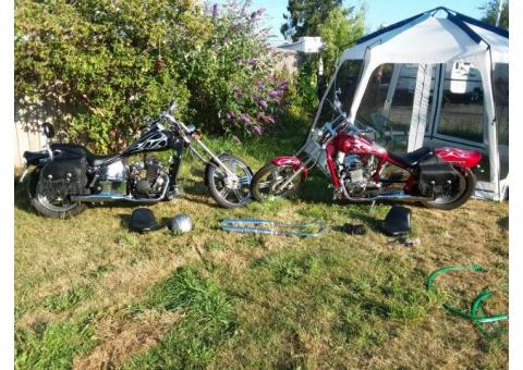 His and hers choppers