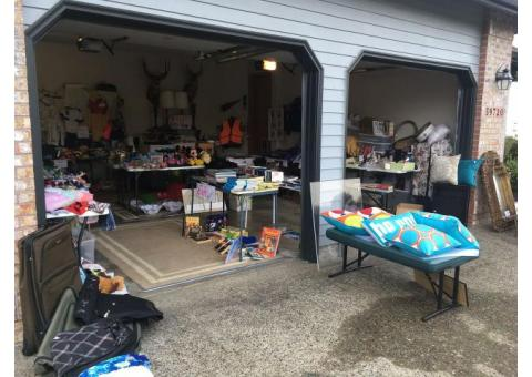 1/2 off EVERYTHING Garage sale Sept 13 Friday, 14 Sat. & 15th Sunday , 8am-5pm