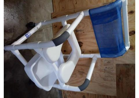 Shower Chair and Toilet Chair Combination